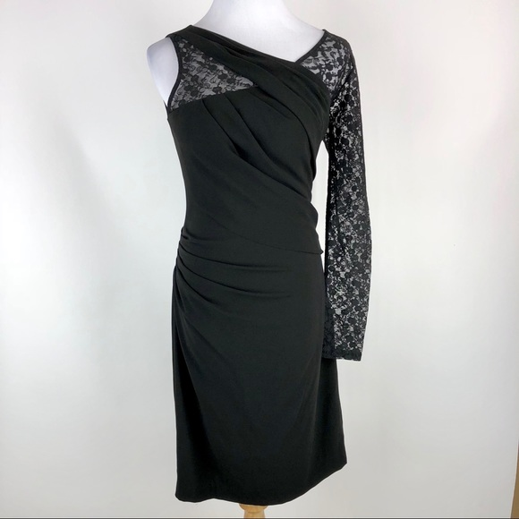 Gianni Bini Dresses Small Black Body Con One Sleeve Dress Poshmark
